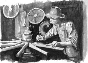 Man-Making-Wheel